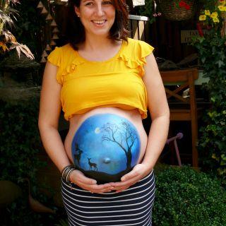 Body schmink studio bellypaint babyshower hert helmond 3 logo