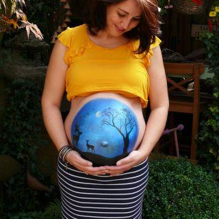 Body schmink studio bellypaint babyshower hert helmond 4 logo