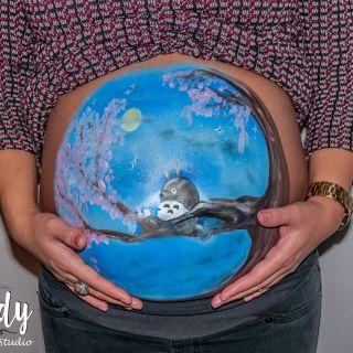 Body schmink studio bellypaint totoro logo