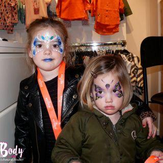 Body schmink studio 4 jaar new kids by demi princess en vlinder gemer