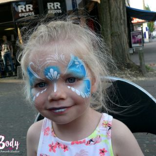 Body schmink studio event friday festival blauw princess gemert