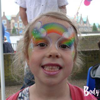 Body schmink studio event kunst kwatier helmond rainbow neon