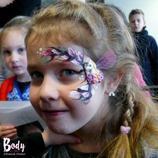 Body schmink studio flowers unicorn bling bling pannehoeven 2018