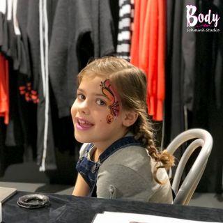 Body schmink studio halloween pumking bij shoeby gemert