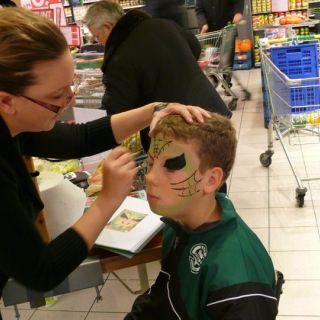 Body schmink studio schminken halloween emte supermarkt beek en donk