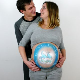 Body schmink studio bellypaint blue dragon foto couple 2 logo