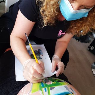 Body schmink studio bellypaint tractor beek en donk working progress