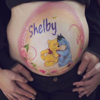 Body schminkstudio bellypaint winny the pooh