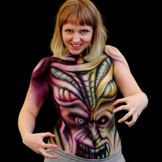Body schmink studio and sarah smith bodypaint airbrush 2 logo