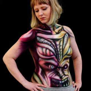 Body schmink studio and sarah smith bodypaint airbrush 4 logo