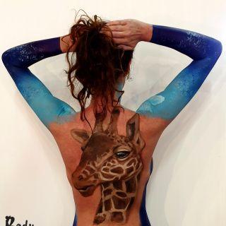 Body schmink studio bodypaint giraffe