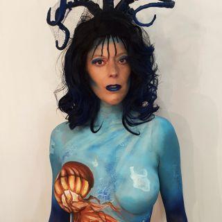 Body schmink studio bodypaint jellyfish pollution logo 5