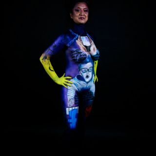 Body schmink studio bodypaint masterclass exam thema modern society logo