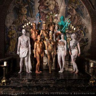 Body schmink studio bodypaint statuejam 2017