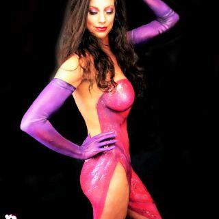 Body schmink studio bodypainting dress jessica roger rabbit beek en donk 2