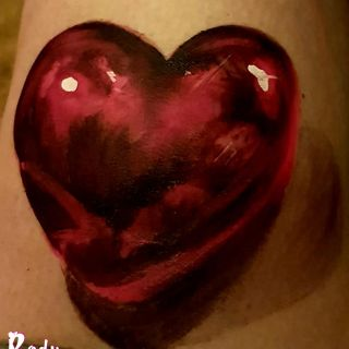 Body schmink studio heart 3d shadow hightligh uv paint