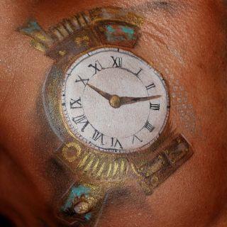 Body schmink studio torso clock steampunk