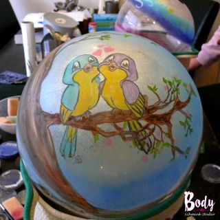 Body schmink studio cursus bellypaint birds