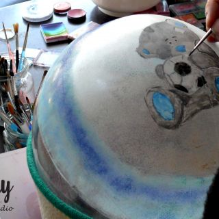 Body schmink studio cursus bellypaint teddy