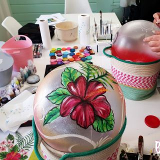 Body schmink studio cursus bellypaint tropical flower beek en donk 2