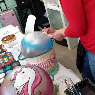 Body schmink studio cursus bellypaint unicorn beek en donk 3
