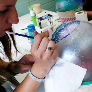 Body schmink studio cursus bellypaint vlinder beek en donk
