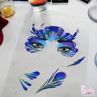 Body schmink studio cursus advance one stroke mermaid design beek en donk 2