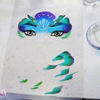 Body schmink studio cursus advance one stroke mermaid design beek en donk 3
