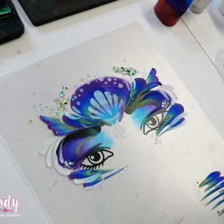 Body schmink studio cursus advance one stroke mermaid design beek en donk