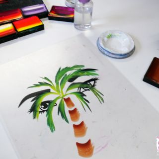 Body schmink studio cursus advance one stroke palm tree beek en donk 2