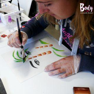 Body schmink studio cursus advance one stroke palm tree beek en donk