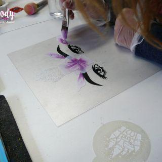Body schmink studio cursus advance one stroke roses beek en donk