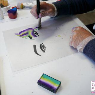 Body schmink studio cursus advance one stroke vlinder design beek en donk 2