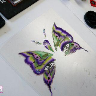 Body schmink studio cursus advance one stroke vlinder design beek en donk 3