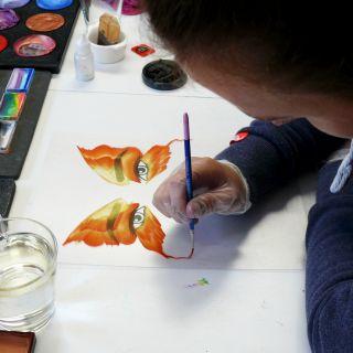 Body schmink studio cursus advance one stroke vlinder design beek en donk 4