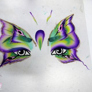Body schmink studio cursus advance one stroke vlinder design beek en donk