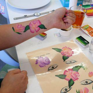 Body schmink studio cursus one stroke beek en donk roses