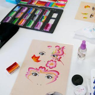 Body schmink studio cursus one stroke beek en donk