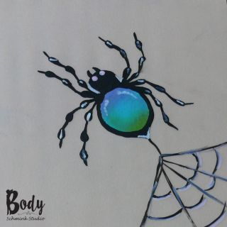 Body schmink studio cursus one stroke blue spider