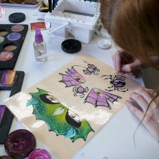 Body schmink studio cursus one stroke halloween beek en donk 2