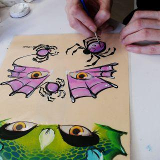 Body schmink studio cursus one stroke halloween beek en donk 3