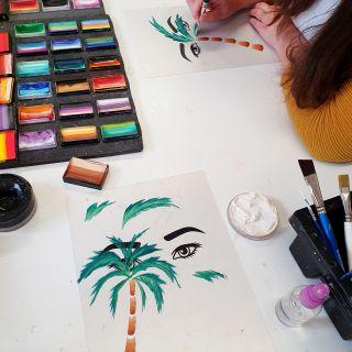 Body schmink studio cursus one stroke palm tree beek en donk