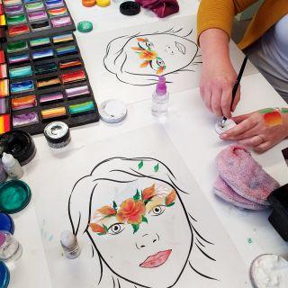 Body schmink studio cursus one stroke princess roses design beek en donk