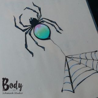 Body schmink studio cursus one stroke rainbow spider