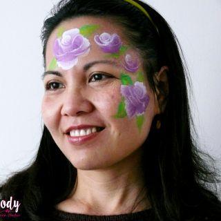 Body schmink studio cursus one stroke roses