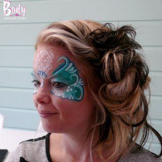 Body schmink studio cursus basis schminken beek en donk princess 2