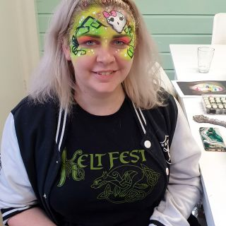 Body schmink studio cursus basis schminken neon girly skull beek en donk 3
