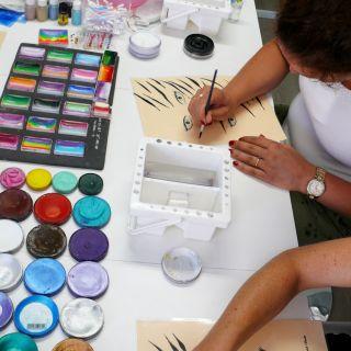 Body schmink studio cursus basis schminken penseel techniek beek en donk 2