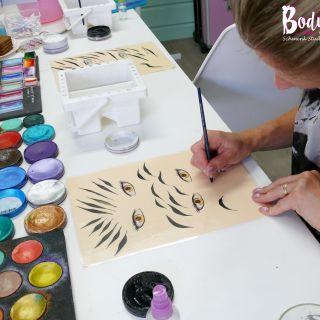 Body schmink studio cursus basis schminken penseel techniek beek en donk 3