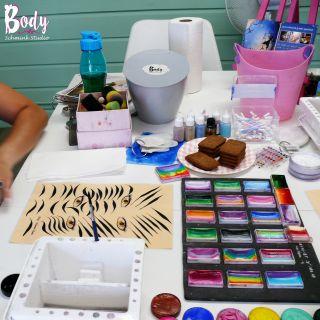 Body schmink studio cursus basis schminken penseel techniek beek en donk 4